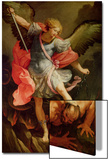 The Archangel Michael Defeating Satan Poster von Guido Reni