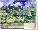 Thatched Cottages at Cordeville, Auvers-Sur-Oise, c.1890 Affiches par Vincent van Gogh