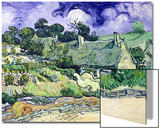 Thatched Cottages at Cordeville, Auvers-Sur-Oise, c.1890 Prints by Vincent van Gogh