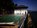 December 1946: Guests Swimming in the Pool at Myrtle Bank Hotel in Kingston, Jamaica Photographic Print by Eliot Elisofon