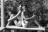Celia Kyllingstad (R) and Carol Hall (L), at a Private Pool, Seattle, Washington, 1960 Photographic Print by Allan Grant