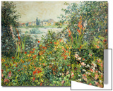 Flowering Meadow, Vetheuil, 1880 Print by Claude Monet