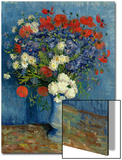 Still Life: Vase with Cornflowers and Poppies, 1887 Posters by Vincent van Gogh