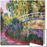 The Japanese Bridge, Pond with Water Lillies; Le Pont Japonais Bassin Aux Nympheas Kunstdrucke von Claude Monet