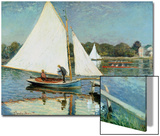 Sailing at Argenteuil, c.1874 Posters by Claude Monet