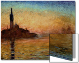 View of San Giorgio Maggiore, Venice by Twilight, 1908 Posters by Claude Monet
