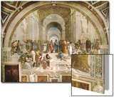 School of Athens, circa 1510-1512, One of the Murals Raphael Painted for Pope Julius II Posters par  Raphael