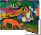 Arearea, 1892 Poster par Paul Gauguin