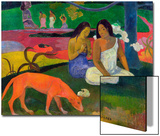Arearea, 1892 Poster by Paul Gauguin