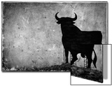 Spain, Andalucia, Jerez De la Frontera, El Cuadrejon, An Osborne Bull or Toro De Osborne Pósters por Alan Copson
