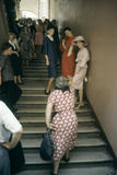 Dior Models in Stairwell for an Officially-Sanctioned Fashion Show, Moscow, Russia, 1959 Photographic Print by Howard Sochurek