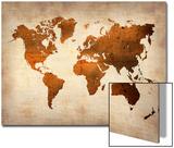 World  Map 7 Prints by  NaxArt