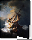 Christ in the Storm on the Lake of Galilee, 1633 Posters by  Rembrandt van Rijn