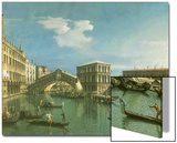 The Rialto Bridge, Venice Prints by  Canaletto