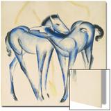 Two Blue Horses Posters par Franz Marc