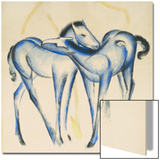Two Blue Horses Posters by Franz Marc