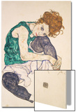 Seated Woman with Legs Drawn Up Art by Egon Schiele