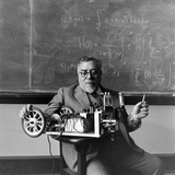Professor Norbert Wiener, American Mathematician Founder of Cybernetics, Mit, Cambridge, MA, 1949 Photographic Print by Alfred Eisenstaedt