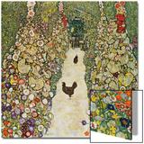 Gardenpath with Hens, 1916 Affiches par Gustav Klimt
