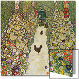 Gardenpath with Hens, 1916 Prints by Gustav Klimt