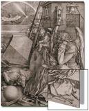 Melancholia, 1513 Plakat av Albrecht Dürer