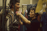 Designer's Aide Fritzi De Majo, of Sacony, Adjusts the Model's Clothing, New York, NY, 1960 Photographic Print by Walter Sanders