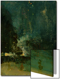 Nocturne in Black and Gold, the Falling Rocket, C.1875 (Oil on Panel) Posters by James Abbott McNeill Whistler