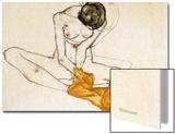 Female Nude, 1901-1918 Affiches par Egon Schiele