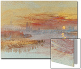 Sunset on Rouen Prints by J. M. W. Turner
