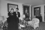 Heiress and Designer Gloria Vanderbilt at Home with Husband Wyatt Cooper, New York, 1974 Photographic Print by Alfred Eisenstaedt