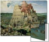 Babel-tårnet, ca. 1563 Plakater av Pieter Bruegel the Elder