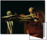 St. Jerome Writing, circa 1604 Posters par  Caravaggio