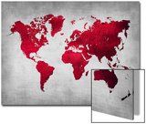 World  Map 9 Prints by  NaxArt