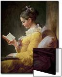 Young Girl Reading Kunstdrucke von Jean-Honoré Fragonard