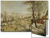 Winter Landscape with Bird Trap Poster von Pieter Brueghel the Younger