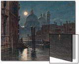 Venice under Moonlight, 1869 Affiche par  Caravaggio