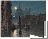Venice under Moonlight, 1869 Print by  Caravaggio