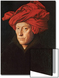 A Man in a Red Turban (Self-Portrait of Jan Van Eyck), 1433 Art by  Jan van Eyck