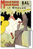 "Reproduction of a Poster Advertising ""La Goulue"" at the Moulin Rouge, Paris Prints by Henri de Toulouse-Lautrec"