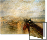 "Rain, Steam And Speed ""The Great Western Railway"" 1844 Print by J. M. W. Turner"