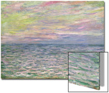 On the High Seas, Sunset at Pourville Prints by Claude Monet