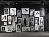 Actress Barbara Rush Posing in a Frame Cut-Out on a Wall Full of Paintings of Herself, 1960 Photographic Print by Ralph Crane