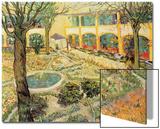 The Asylum Garden at Arles, c.1889 Plakater av Vincent van Gogh