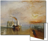 The Temeraire Towed to Her Last Berth (AKA The Fighting Temraire) Poster by J. M. W. Turner