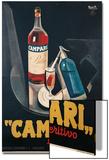Poster Advertising Campari Laperitivo Kunstdrucke von Marcello Nizzoli
