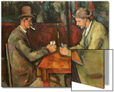 The Card Players, 1893-96 Prints by Paul Cézanne