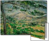 Mont Sainte, Victoire med stort furutre, ca. 1887 Plakat av Paul Cézanne