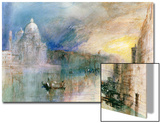 Venice: Grand Canal with Santa Maria Della Salute Prints by J. M. W. Turner
