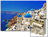 Amazing Santorini - Travel In Greek Islands Series Art by  Maugli-l