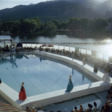 Poolside Fashion Show at the Broadmoor Hotel as Part of 'French Week,' Colorado Springs, Co, 1959 Photographic Print by Allan Grant